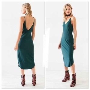 URBAN OUTFITTERS SPARKLE & FADE GREEN MIDI DRESS